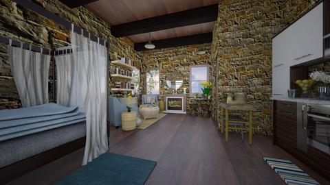 Post War Cottage - Rustic - by Loren17