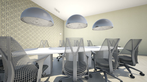 Sala de Reuniones - Minimal - Office - by Jey
