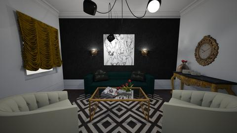 Black and Green - Living room - by bruhitshannah