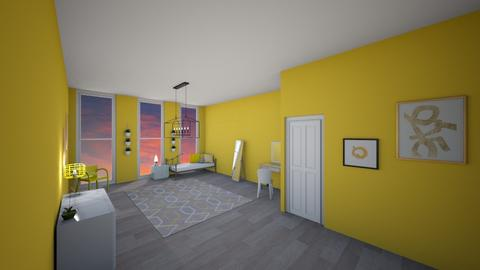 yellow  - Modern - Bedroom - by roomdesigner1245
