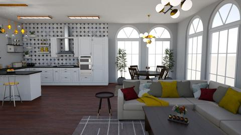 Kitchen and Dining room - Kitchen - by Nina Colin