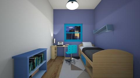 Blue Teenager - Bedroom - by xXRodrigoPlaysXx