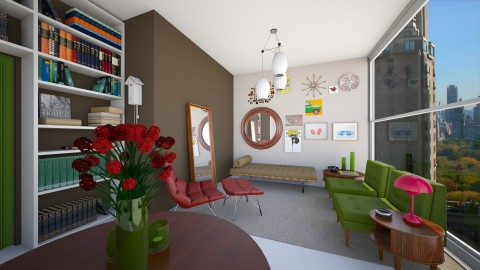 Flat - Retro - Living room - by AleksRossi