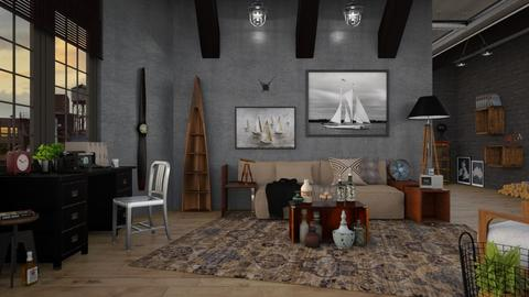 Nautical Office - Masculine - Office - by Apartment19