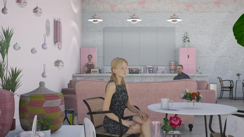pink cafe - by Samantha Ruoff