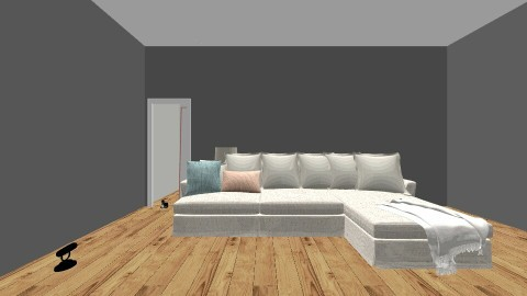 Flat - Living room - by camila_2001