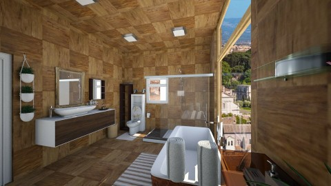 wood bathroom  - by dalia sn