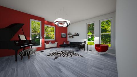 Zebra stripes with Red - Modern - Bedroom - by JarvisMe