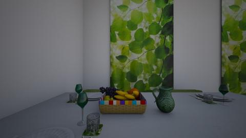 Green Contest - Dining room - by Cardinal14