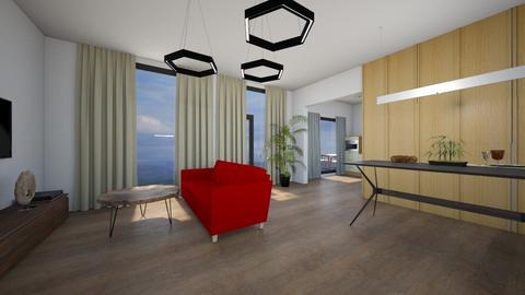 Kotedzas Edvino - Living room - by Akmari