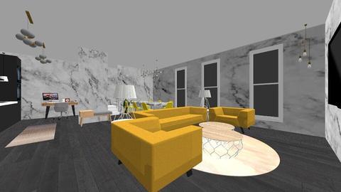 yellow chairs - by ne078712