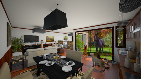 Honey we have guests - Country - Living room - by Joao M Palla