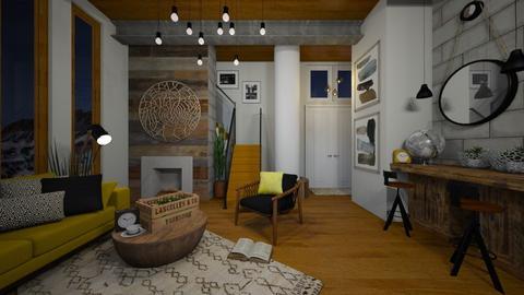 Large Column Living - Living room - by Rebekah Pincock