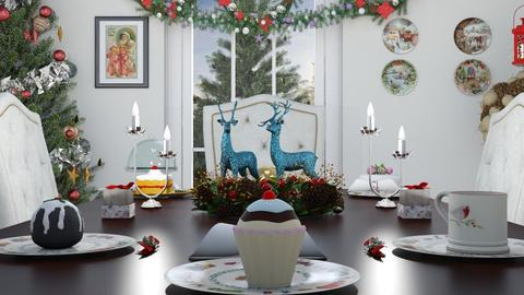 M_ White Christmas - Dining room - by milyca8