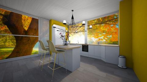 Yellow Kitchen - Modern - Kitchen - by agirlwithdreams