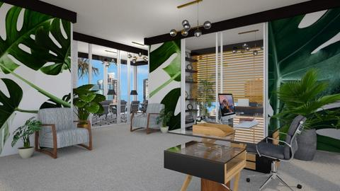 Jungle Coloured Office - by gvidiani_nina