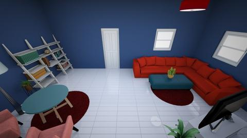 Red Blue - Living room - by hf1000