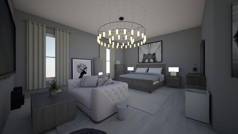 White Teen Roomv - Glamour - Bedroom - by Wine2488