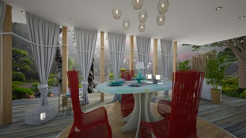 rojo y azul - Dining room - by ana111