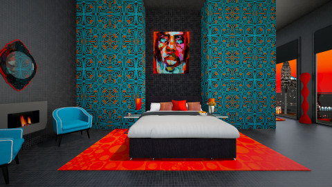neon Alfred bedroom - Bedroom - by bright side of life