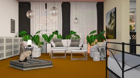 Orange Carpet - Living room - by BortikZemec