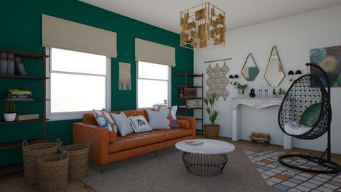 Bohemian living room - Living room - by Evelina22