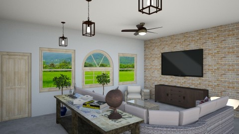 Rtmt Home_LivingRoom - Rustic - Living room - by pokeystyles