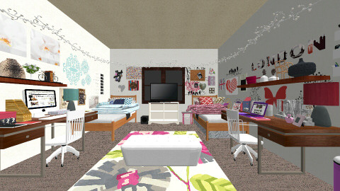 Me and Brookes Dorm Room - Bedroom - by ariannar104