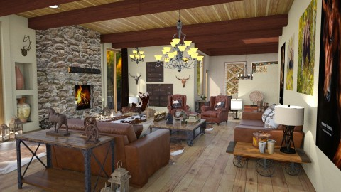 ranch warm feeling - Vintage - Living room - by Moonpearl