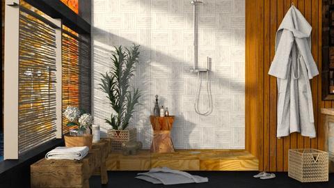 Wooden bath - Rustic - Bathroom - by eevmo