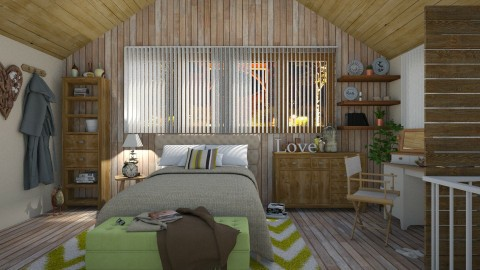 woodbed - Rustic - Bedroom - by donella