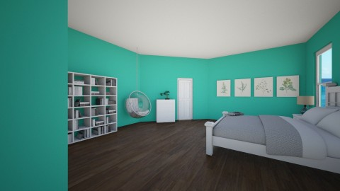 Aqua Bedroom - Modern - Bedroom - by ansleymwhitaker