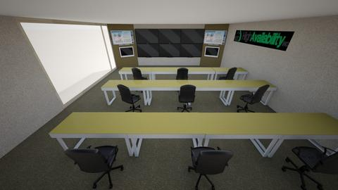 New NOC  6 tv - Office - by msobusiak