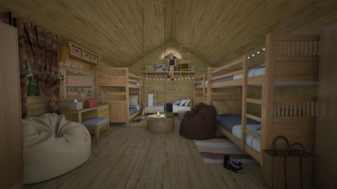 cabin  - Bedroom - by white_dove