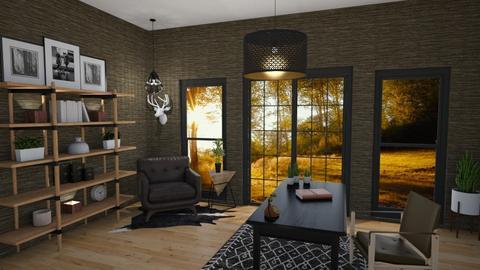 Mid Century Office - Office - by kyrabaldwin