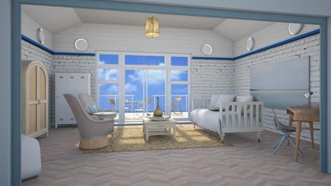 Sand and sea  - Living room - by augustmoon