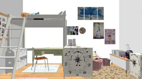 21 - Feminine - Bedroom - by sketchbookdesign