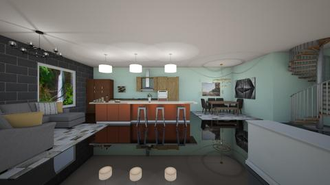 artist room - Kitchen - by natliner