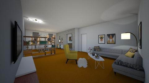 Orange Carpet Living - Living room - by raphaelfernandesdesign