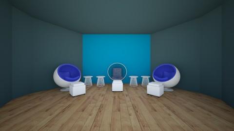 Feelin Kinda Bluetiful - Modern - Living room - by HewoUnicorn