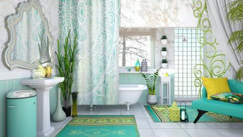 bohemian bathroom - by Bren123