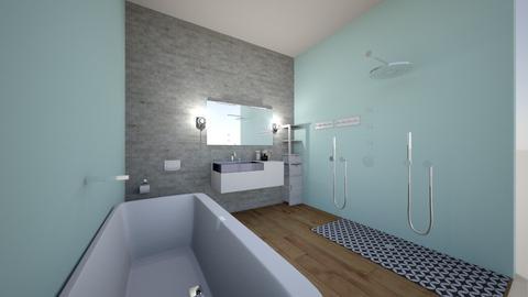 modern teal - Modern - Bathroom - by madinunezenstyler