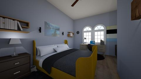 Yellow and Blue - Rustic - Bedroom - by finnygaps