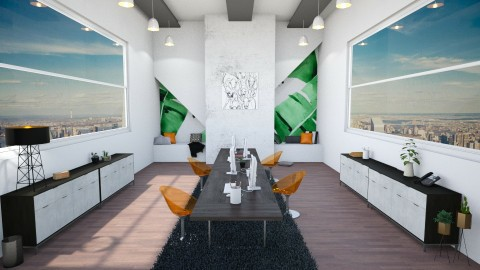 Colorful Office Space - by zespanishaussie