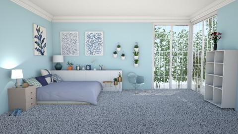 Cozy Blue Bedroom - Bedroom - by lorijodoyle