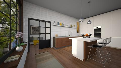 mid century kitchen - Kitchen - by rasty