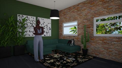 _Urban Jungle Living - Living room - by noorjuliavanwalree