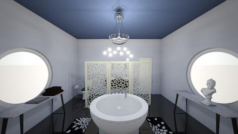 Black Marble Bathroom - Minimal - Bathroom - by KajsaRain