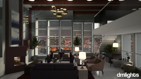 Cherry juice and smoke - Living room - by DMLights-user-991288