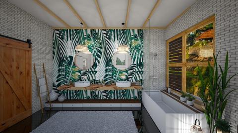 tropical - Bathroom - by bsk Interiordesign